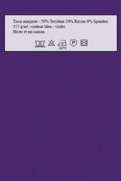Tissu Majorie bleu-violet amasos