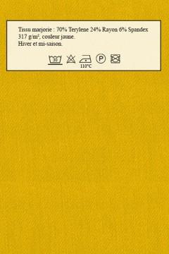 Tissu Marjorie jaune Amasos pour robe détails