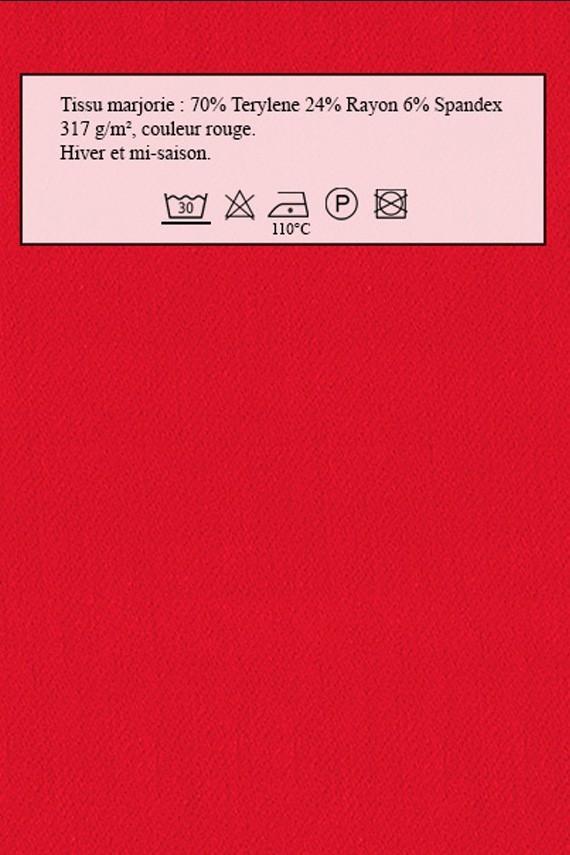Tissu pour robe Marjorie rouge Amasos