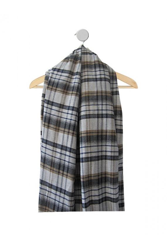 Echantillon de tissu toutes saisons prince de galles gris-bleu
