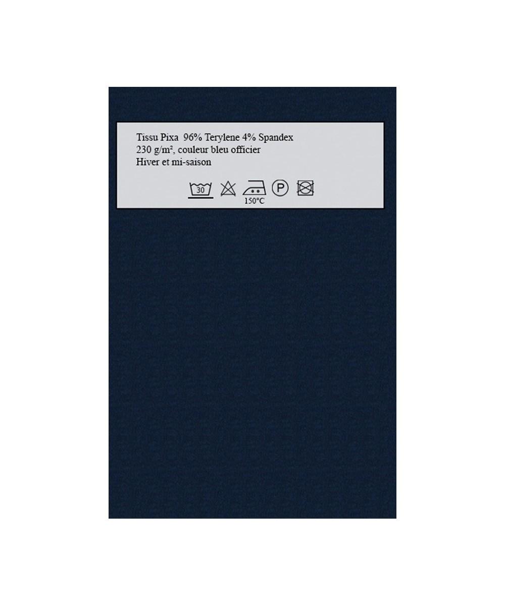 Tissu amasos Pixa bleu officier pour robes personnalisables