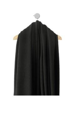 Echantillon de tissu Pixa noir Hiver et mi-saison vue sur cintre