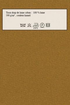 Echantillon de tissu amasos Lainage kamel, drap de laine Amasos