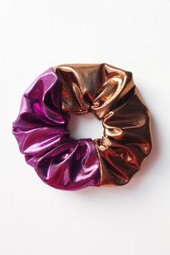 Chouchou à cheveux métalliques brillants bicolores amasos à personnaliser