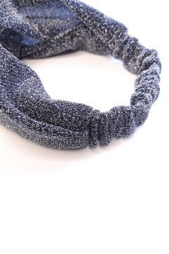bandeau cheveux argenté fabriqué en France fait main amasos