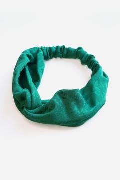 bandeau cheveux vert émeraude personnalisable fabrication française