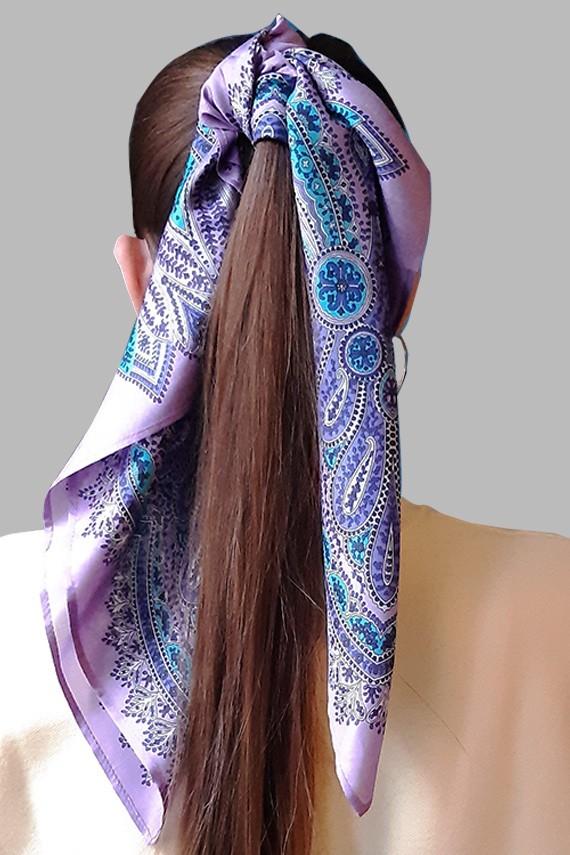 Queue de cheval avec foulard en soie fabriqué en France amasos