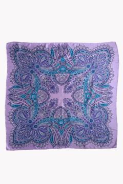 Carré foulard en soie haut de gamme parme imprimé personnalisable amasos