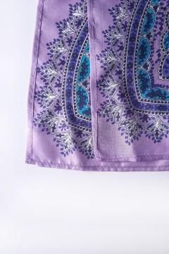 détails finitions foulard parme fabriqué en France