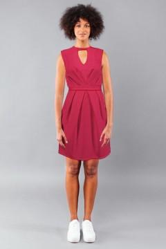 robe décolletée au dos rose Andréa