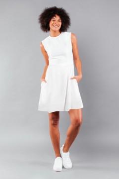 Robe sans manches blanche Amandine à personnaliser