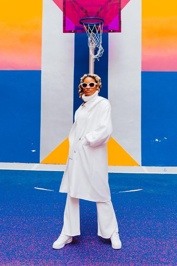 Manteau col croisé fabriqué en France amasos